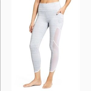 Athleta Grey Mesh Leggings